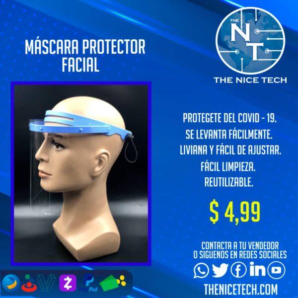 Mascara facial Transparente face shield